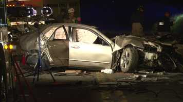 Two teenagers were killed and a third was injured in a crash in Georges Township, Fayette County.
