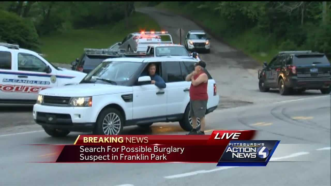 1 person in custody after search for burglary suspect in Franklin Park