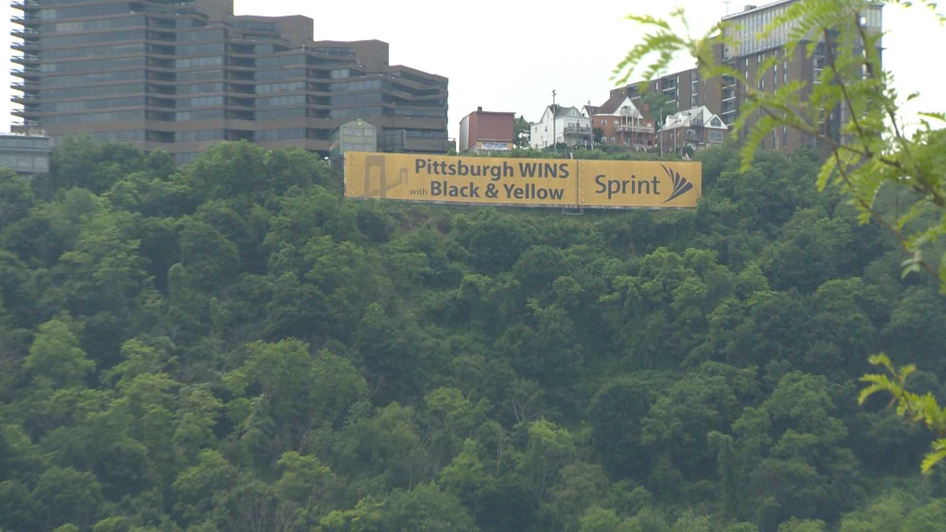 Sprint sign - Mount Washington