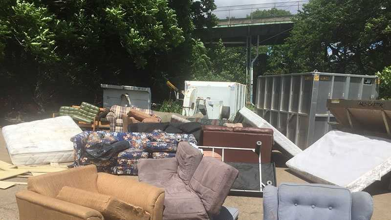 old couches removed