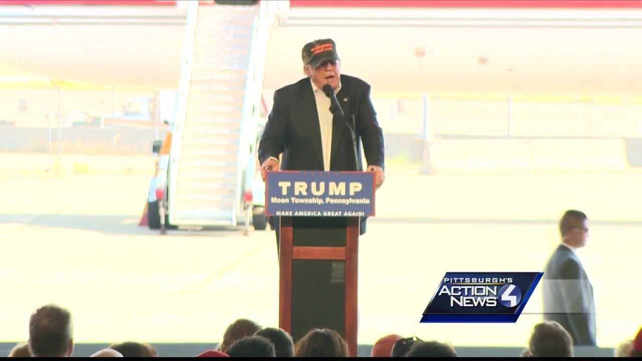 Donald Trump returns to Pittsburgh area, talks Ben Roethlisberger and steelworkers