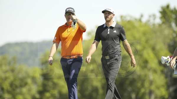 Sebastian Soderberg and Dustin Johnson