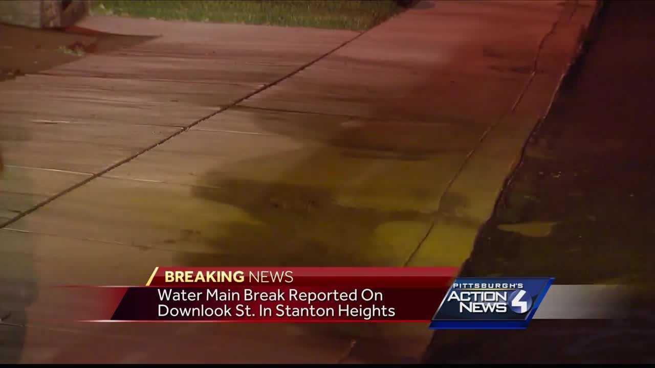Crews called to water main break in Stanton Heights