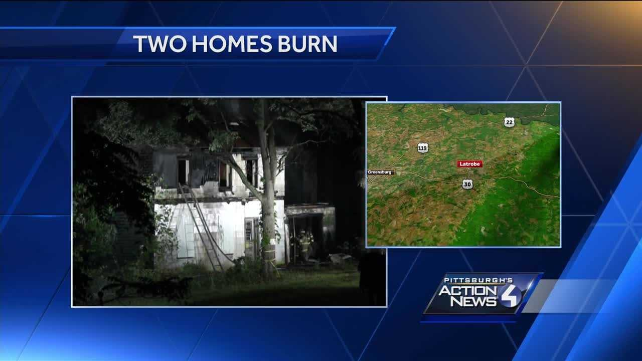 2 homes destroyed by fire in Latrobe