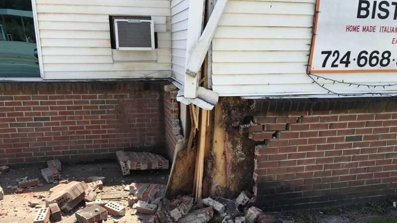 Salem Township pizzeria struck by vehicle towing backhoe