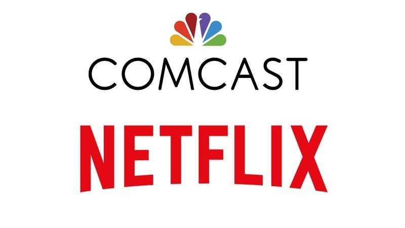 Comcast Netflix logos