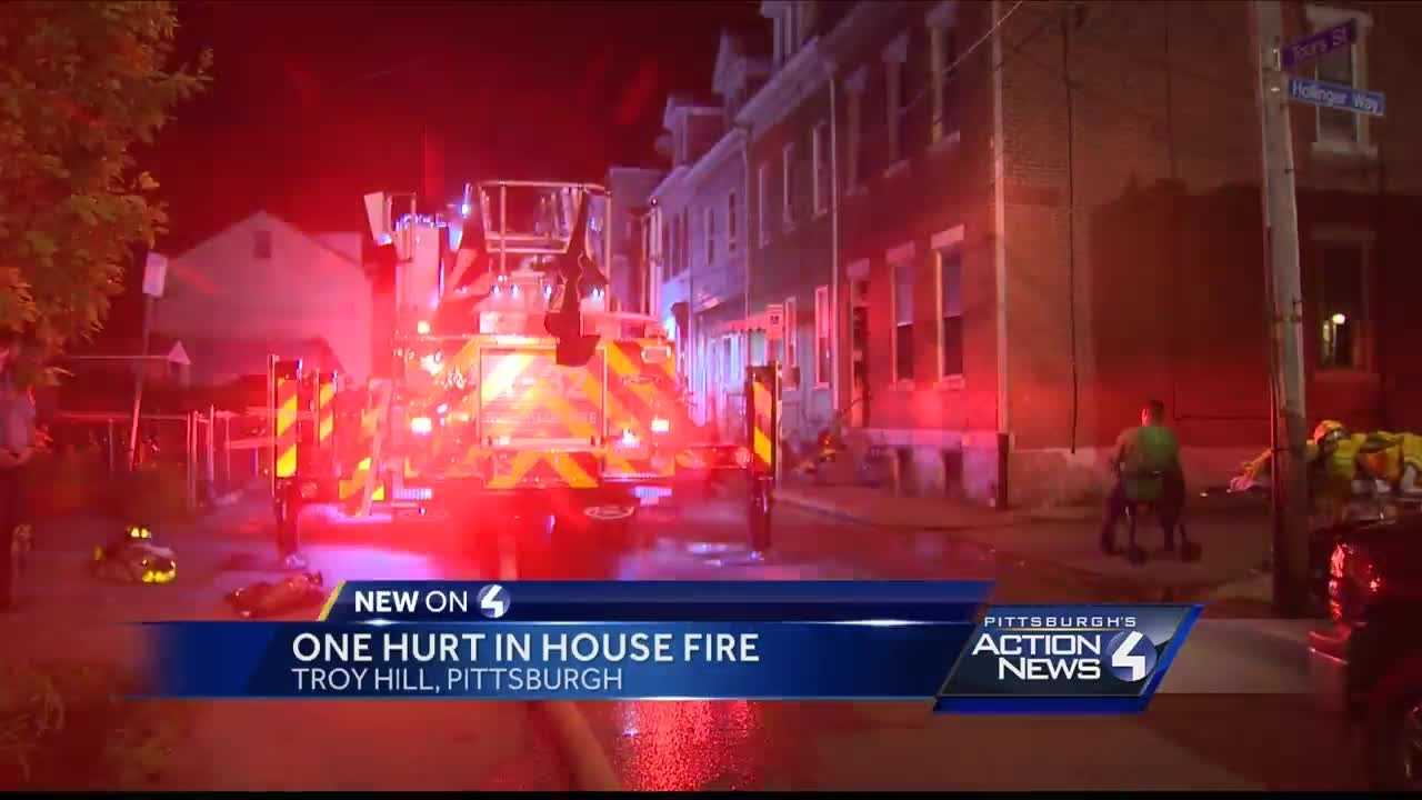 Person injured in Troy Hill fire