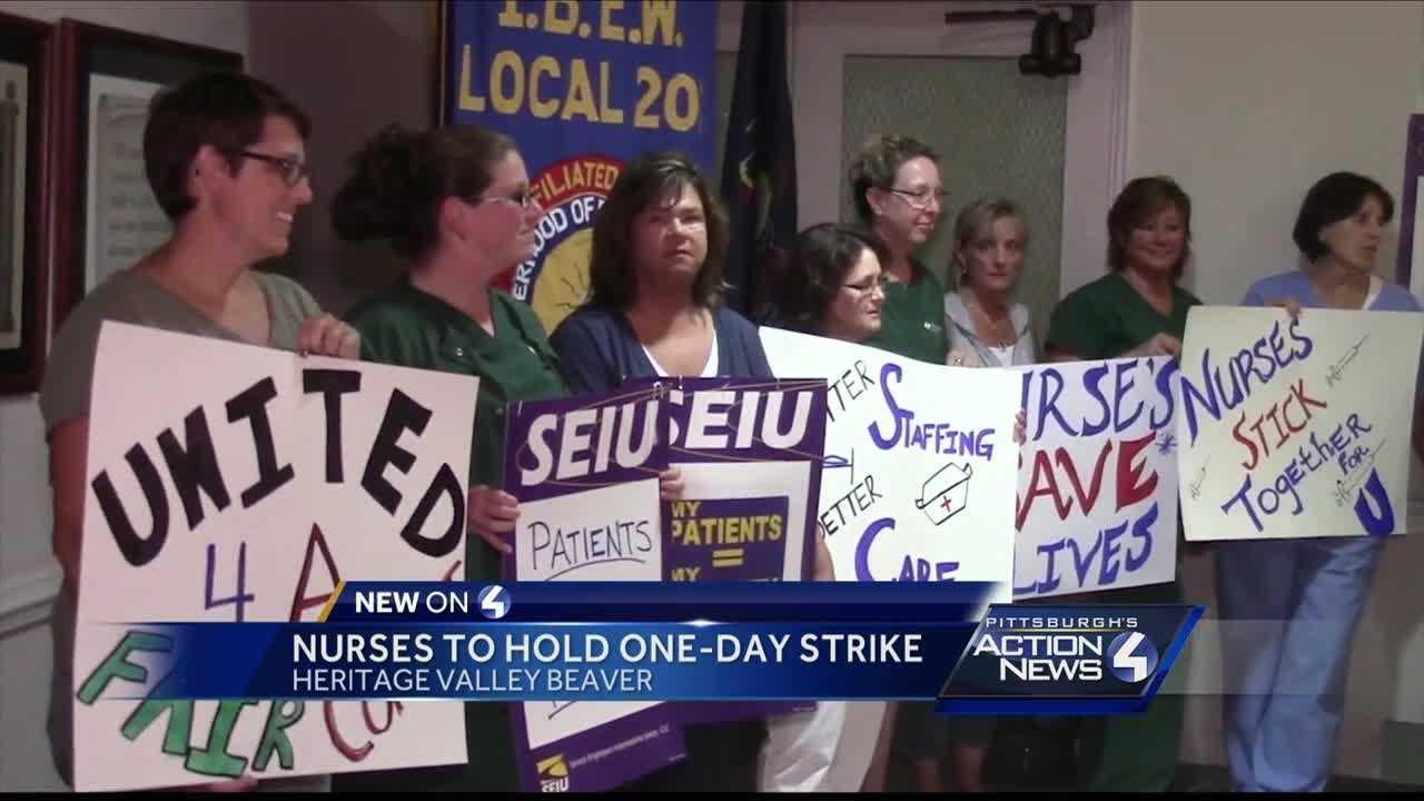 Heritage Valley Beaver hospital nurses strike
