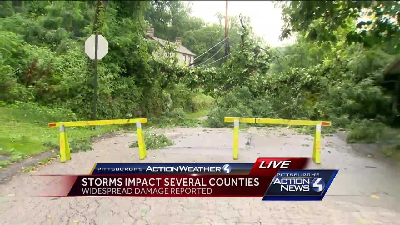 Storm tears through Allegheny County, causes damage
