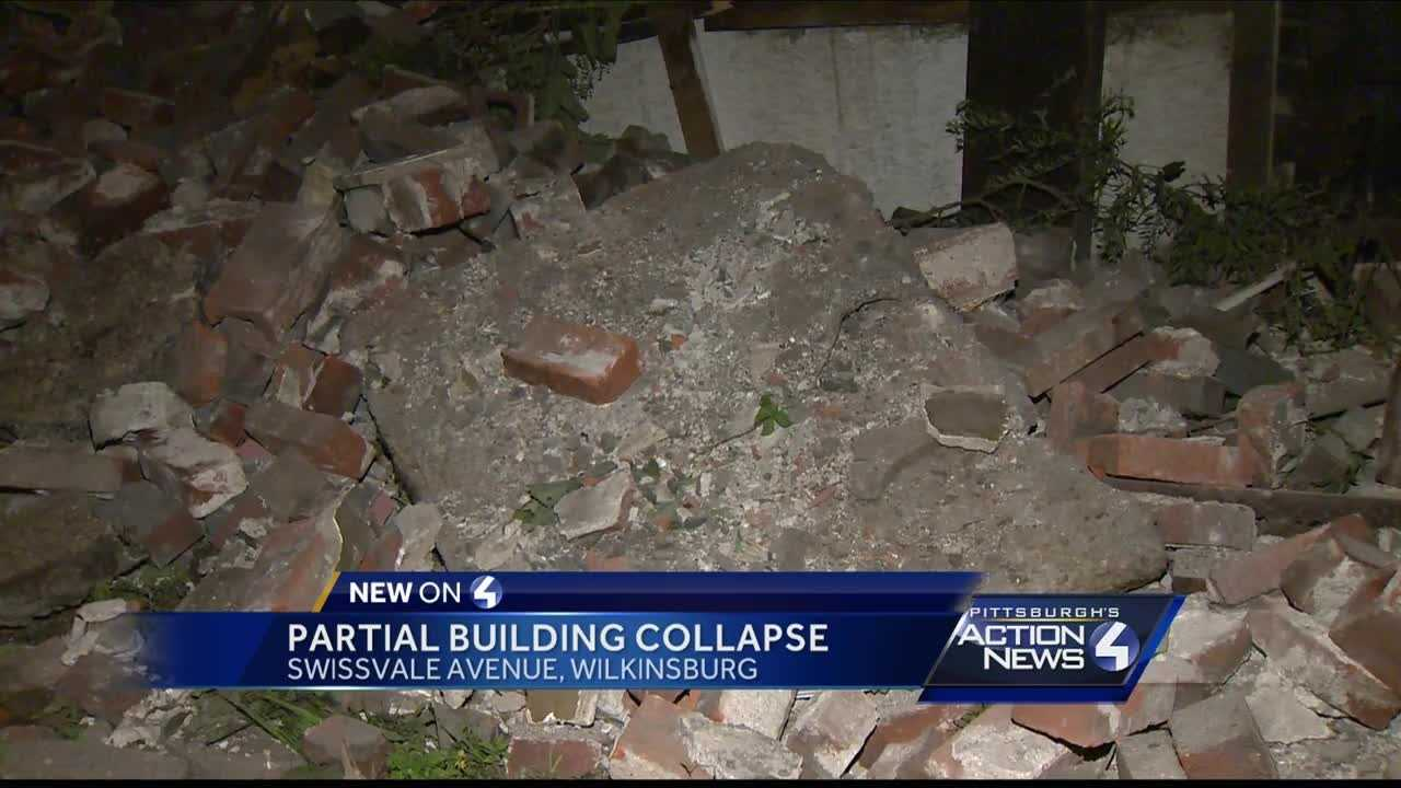 Partial building collapse in Wilkinsburg