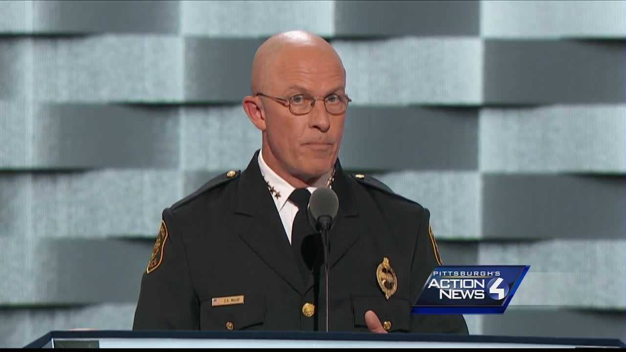 img-Pittsburgh police Chief Cam McLay addresses DNC