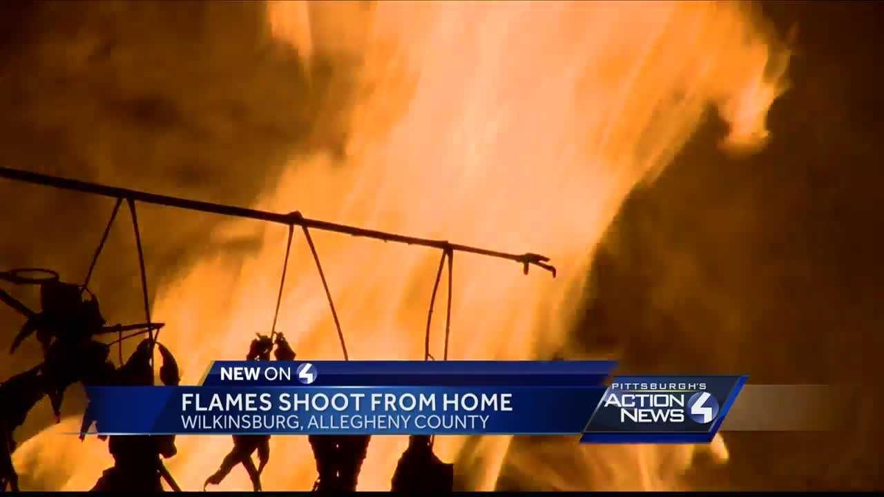 Flames tear through home in Wilkinsburg