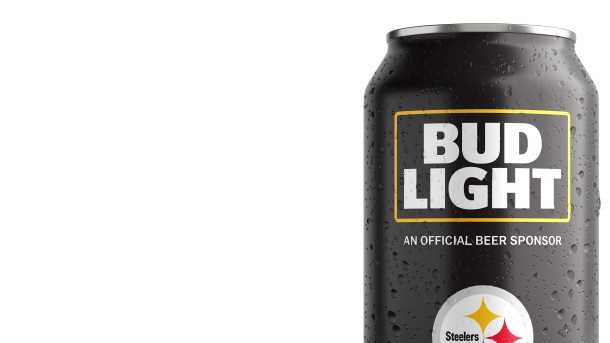 Steelers Bud Light can