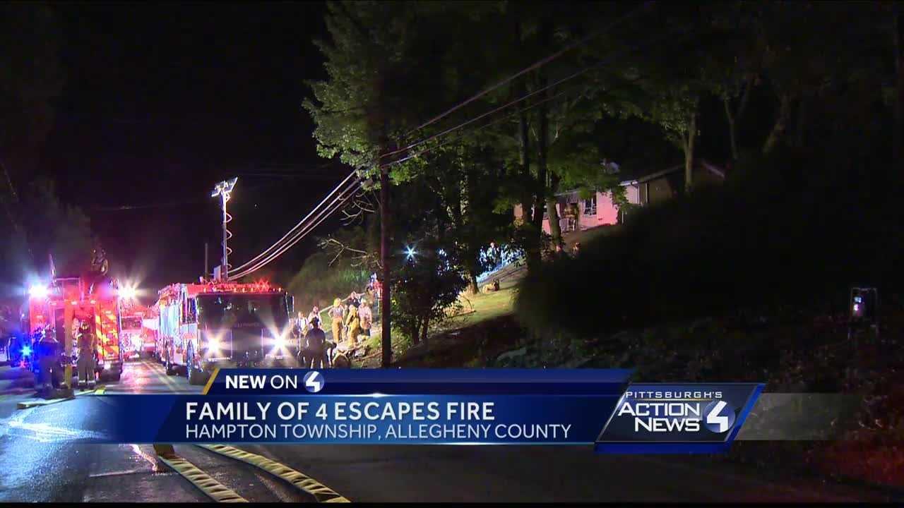 Family escapes Hampton Township fire