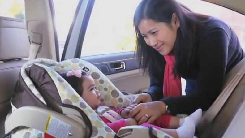 rear-facing child car seat