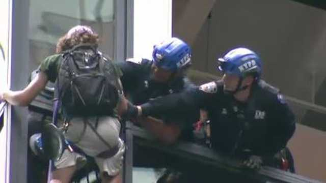 Police grab Trump Tower climber