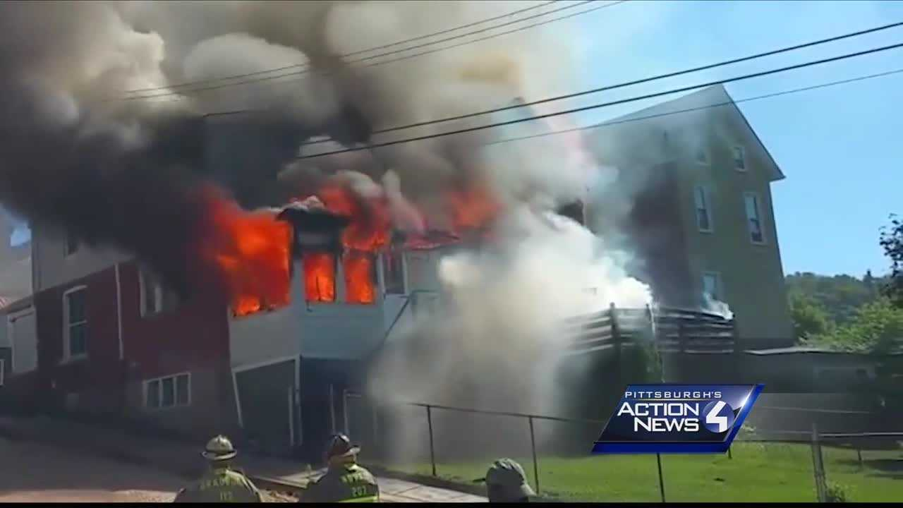 img-2 houses destroyed 1 damaged in North Braddock fire