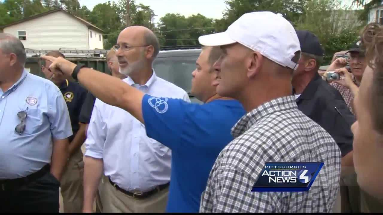 img-Gov Tom Wolf tours Fayette County flood damage