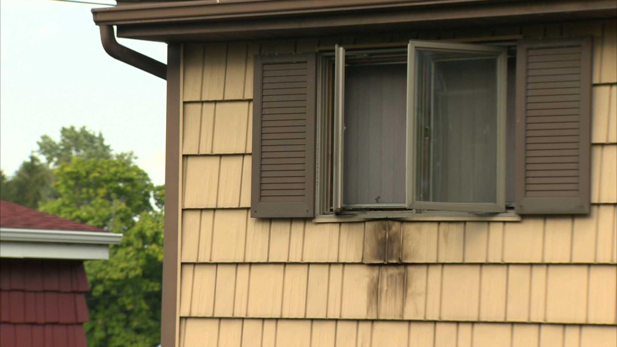 West Mifflin firebombing house window