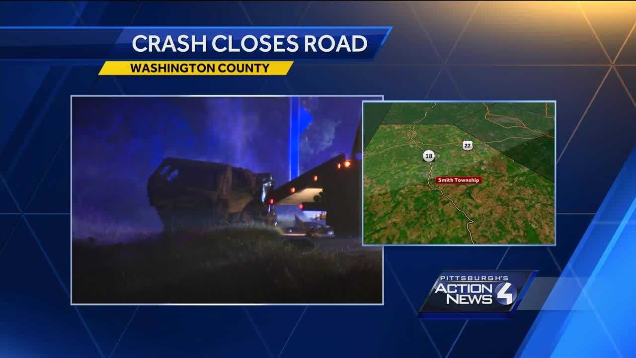 One person hurt in Washington County crash