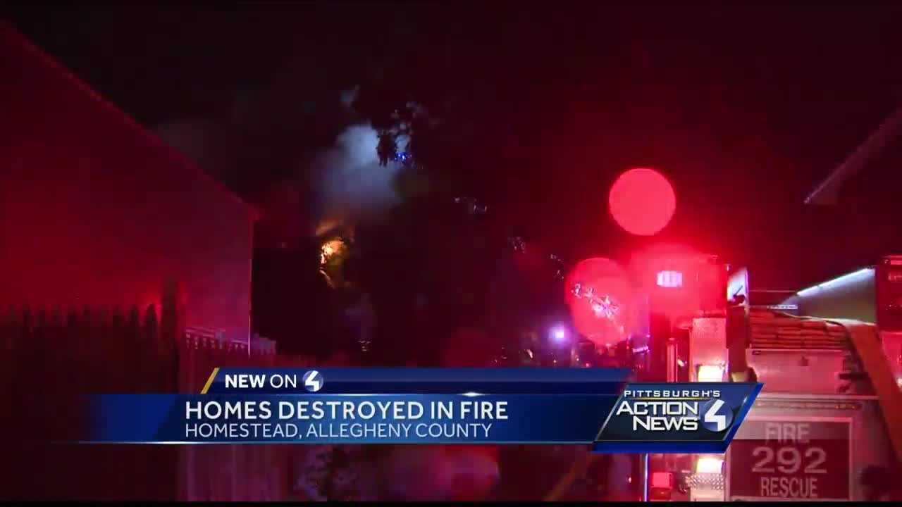 Two houses destroyed by fire in Homestead