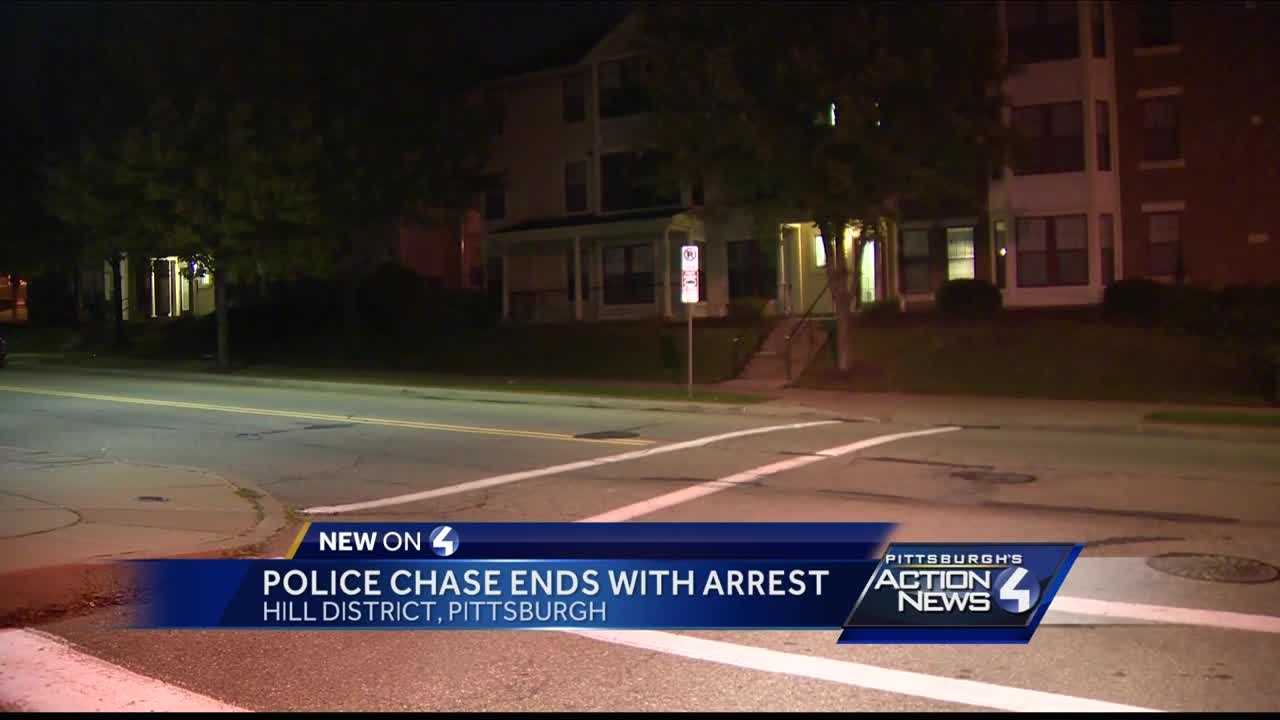 Chase ends with crash in Hill District