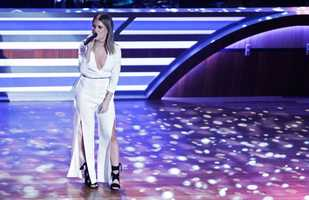 In this Tuesday, Aug. 30, 2016, file photo, Maren Morris performs at the 10th Annual ACM Honors at Ryman Auditorium in Nashville, Tenn. Chris Stapleton, Eric Church and budding newcomer Morris are the leaders at the 2016 Country Music Association Awards. The three performers received five nominations each Wednesday, Aug. 31. The CMAs will air live Nov. 2 on ABC in Nashville, Tenn., celebrating its 50th anniversary. (Photo by Wade Payne/Invision/AP, File)