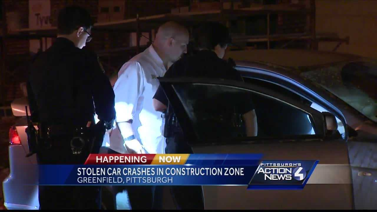 Stolen car cashes near townhouse under construction in Greenfield