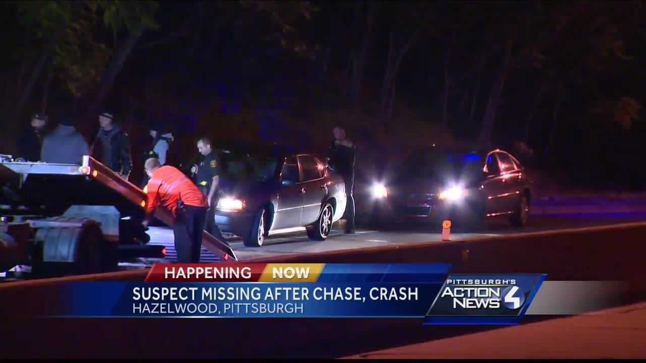 Apparent police chase ends with crash and search near Glenwood Bridge