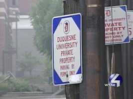 Although Duquesne is a private school, police said many people in the estimated crowd of 200 -- including the shooters -- were not students.