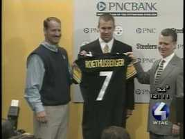 2004: The Steelers chose Ben Roethlisberger with the No. 11 pick in the first round of the NFL Draft.