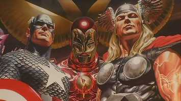 """The Avengers:"" Captain America, Iron Man and Thor"