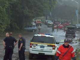 Four people were killed in the flash flooding.