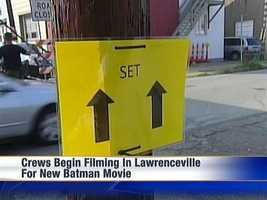 Movie crews shot scenes first in Lawrenceville before moving on to Oakland.