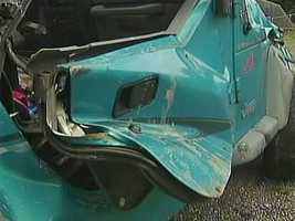 The coroner said Thompson was partially ejected through the passenger's side door.