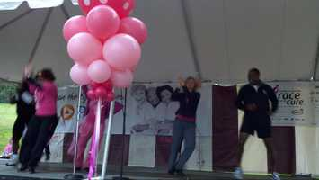 Andrew Stockey joins the Zumba workout