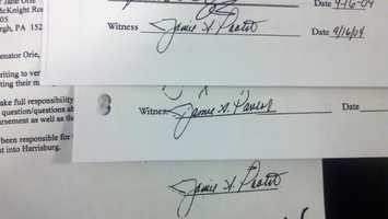The source signature and two alleged copy-and-paste frauds