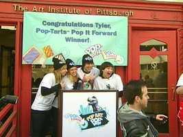 "Tyler Kozar won the Pop-Tarts as part of the ""Pop it Forward"" contest."