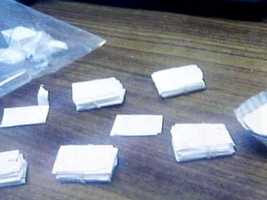Stamp bags of heroin