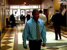 Jordan Miles arrives at Municipal Court for his hearing