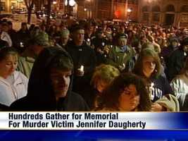 Hundreds of people attended a vigil held in Jennifer Daugherty's memory.