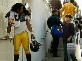 Troy Polamalu played the role of Joe Greene in a remake of the classic 1980 Coca-Cola commercial that debuted during Super Bowl XLIII.