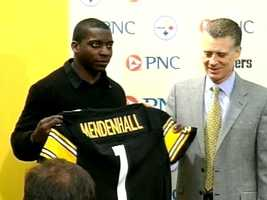 2008: The Steelers chose Rashard Mendenhall with the No. 23 pick in the first round of the NFL Draft.
