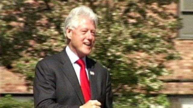 President Bill Clinton in Squirrel Hill