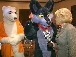 Kelly Frey interviews two furries at Anthrocon.