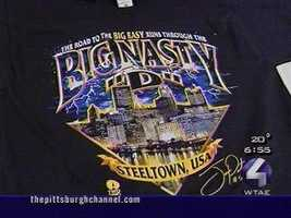 """October 2001: Joey Porter becomes synonymous with the """"Big Nasty D,"""" the now-unforgettable nickname for Pittsburgh's defense of the early-to-mid 2000s. Soon, T-shirt sales get hot and a portion of the money benefits autism research at Children's Hospital.Read Story"""