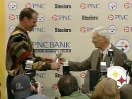Four days later, Cowher came back to announce his resignation. Steelers chairman Dan Rooney gave him a trophy ...
