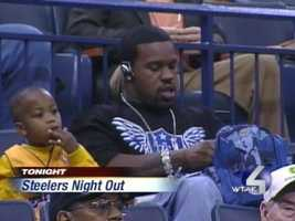Oct. 25, 2006: Joey Porter watches the NBA champion Dallas Mavericks in an exhibition game against LeBron James and the Cleveland Cavaliers at Mellon Arena. He often attended local sporting events when the Steelers were off.Watch Video