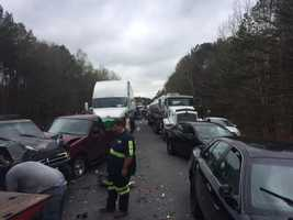 Scene of a wreck on I-59 northbound near Springville.