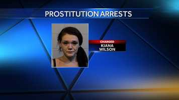 Kiana Marie Wilson, 19, of Birmingham was charged with solicitation of prostitution and held pending $1,000 bond.